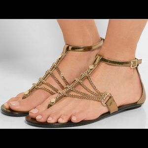 Jimmy Choo Wallace bronze sandals